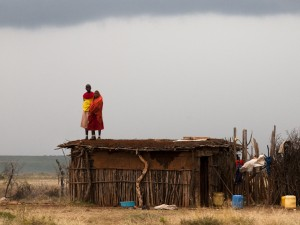 Samburu Girls on the Roof