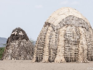 Grass Houses on the Shores of Lake Turkana