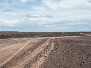 A road through the stone desert