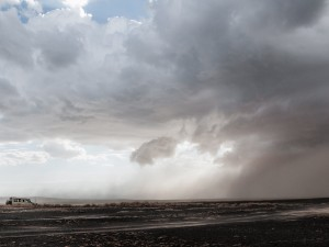 Storm moving out onto Lake Turkana