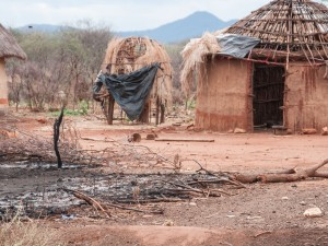 Houses burnt in Odda part of the Moyale conflict