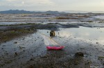 Pink Flip Flop Boat on Lake Turkana