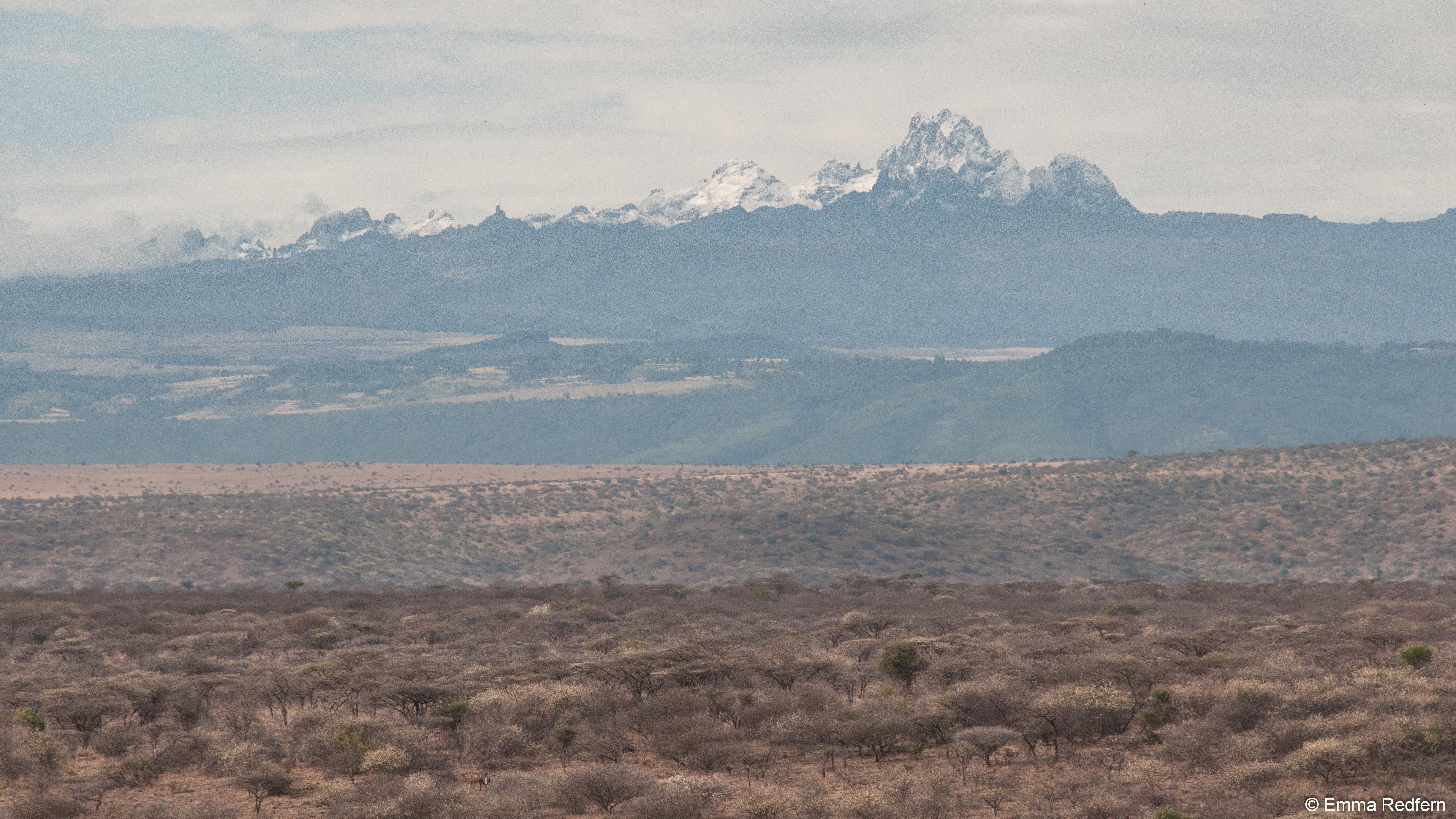Mount Kenya with Snow