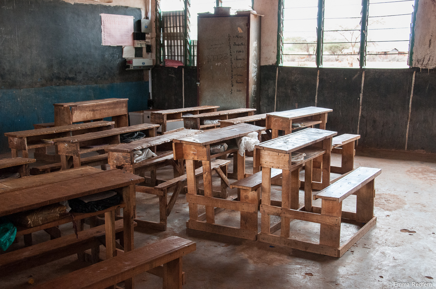 A classroom in one of the best performing government schools in northern Kenya