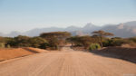 Traveling through Northern Kenya on the Wind Farm Road