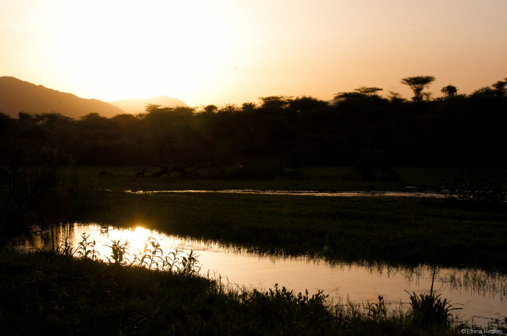 Sunset over an unusually wet and verdant Isiolo County